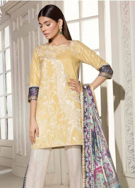 Mahgul by Al Zohaib Embroidered Raw Silk Unstitched 3 Piece Suit MG18F 04 - Formal Collection