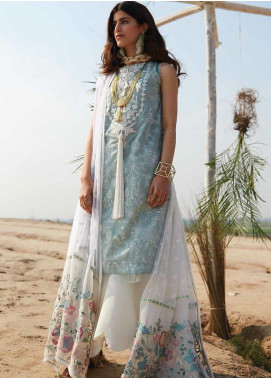 Mahgul Embroidered Lawn Unstitched 3 Piece Suit MG20M 02 - Luxury Collection