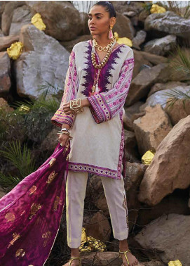 Mahgul Embroidered Lawn Unstitched 3 Piece Suit MG20M 09 - Luxury Collection