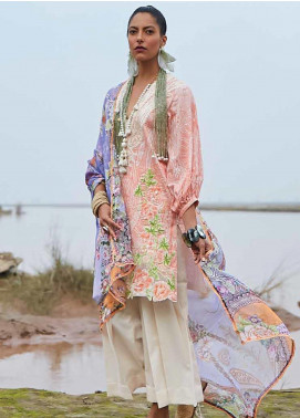 Mahgul Embroidered Lawn Unstitched 3 Piece Suit MG20M 11 - Luxury Collection