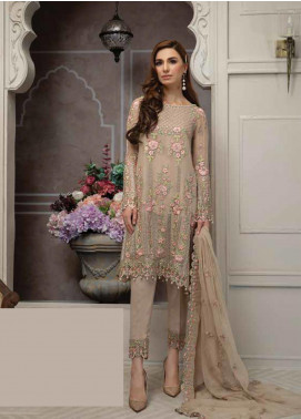 Mahi by Marwat Textiles Embroidered Chiffon Unstitched 3 Piece Suit MMT19C 01 - Luxury Collection