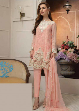 Mahi by Marwat Textiles Embroidered Chiffon Unstitched 3 Piece Suit MMT19C 02 - Luxury Collection