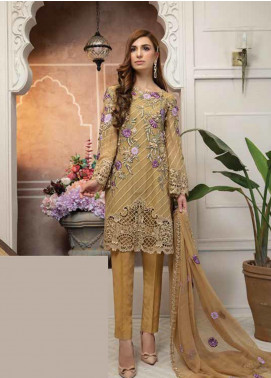 Mahi by Marwat Textiles Embroidered Chiffon Unstitched 3 Piece Suit MMT19C 03 - Luxury Collection