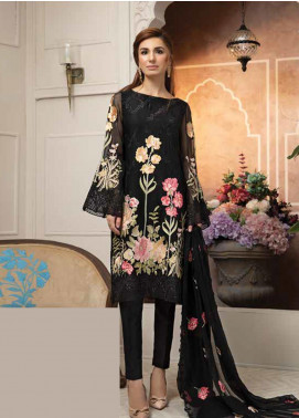 Mahi by Marwat Textiles Embroidered Chiffon Unstitched 3 Piece Suit MMT19C 04 - Luxury Collection
