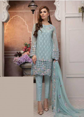 Mahi by Marwat Textiles Embroidered Chiffon Unstitched 3 Piece Suit MMT19C 05 - Luxury Collection