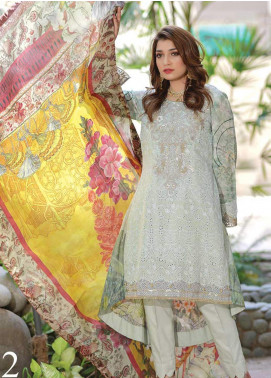 Mahi by Marwat Textiles Embroidered Lawn Unstitched 3 Piece Suit MMT20M M-02 - Luxury Collection