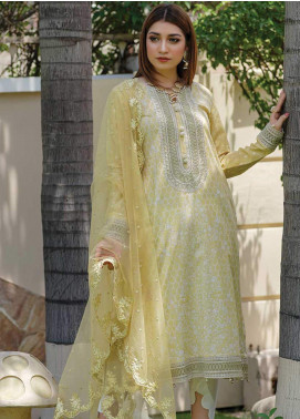 Mahi by Marwat Textiles Embroidered Lawn Unstitched 3 Piece Suit MMT20M M-06 - Luxury Collection