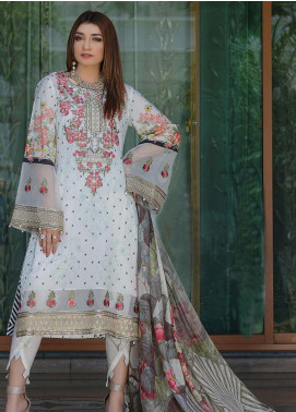Mahi by Marwat Textiles Embroidered Lawn Unstitched 3 Piece Suit MMT20M M-07 - Luxury Collection