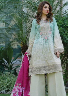 Mahi by Marwat Textiles Embroidered Lawn Unstitched 3 Piece Suit MMT20M M-09 - Luxury Collection
