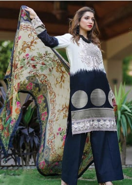 Mahi by Marwat Textiles Embroidered Jacquard Unstitched 3 Piece Suit MMT20M M-10 - Luxury Collection