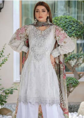 Mahi by Marwat Textiles Embroidered Lawn Unstitched 3 Piece Suit MMT20M M-12 - Luxury Collection