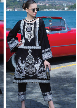 Mahiymaan By Al Zohaib Embroidered Lawn Unstitched 3 Piece Suit MAH19E 01 - Festive Collection
