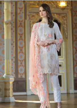 Mahiymaan By Al Zohaib Embroidered Lawn Unstitched 3 Piece Suit MAH19E 02 - Festive Collection