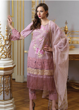 Mahiymaan By Al Zohaib Embroidered Jacquard Unstitched 3 Piece Suit MAH19E 12 - Festive Collection