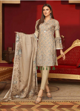 Mahjabeen by Riaz Arts Embroidered Slub Unstitched 3 Piece Suit RA20MJS 73 - Winter Collection