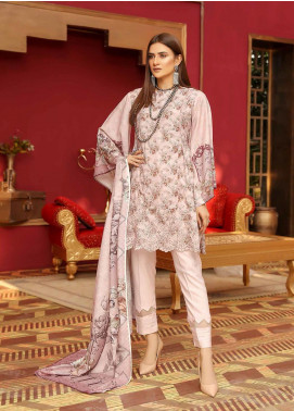 Mahjabeen by Riaz Arts Embroidered Slub Unstitched 3 Piece Suit RA20MJS 76 - Winter Collection