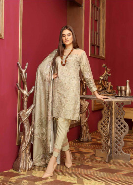Mahjabeen by Riaz Arts Embroidered Slub Unstitched 3 Piece Suit RA20MJS 78 - Winter Collection