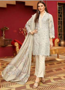 Mahjabeen by Riaz Arts Embroidered Slub Unstitched 3 Piece Suit RA20MJS 80 - Winter Collection