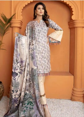Mahjabeen by Riaz Arts Embroidered Pashmina Unstitched 3 Piece Suit RA20-MJ9 66 - Winter Collection