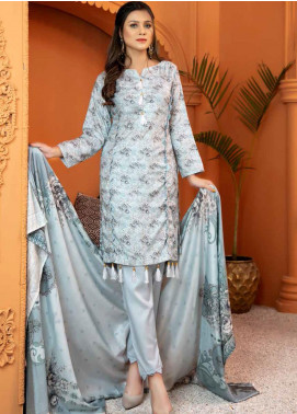 Mahjabeen by Riaz Arts Embroidered Pashmina Unstitched 3 Piece Suit RA20-MJ9 67 - Winter Collection