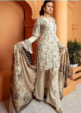 Mahjabeen by Riaz Arts Embroidered Pashmina Unstitched 3 Piece Suit RA20-MJ9 68 - Winter Collection