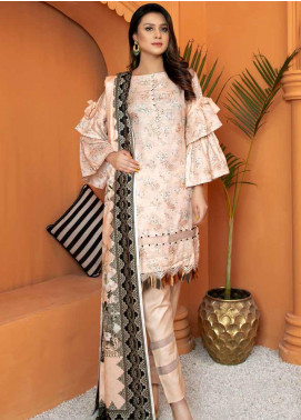 Mahjabeen by Riaz Arts Embroidered Pashmina Unstitched 3 Piece Suit RA20-MJ9 69 - Winter Collection