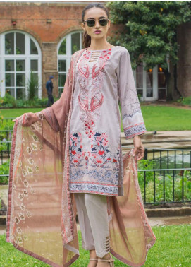 Mahnoor by Al Zohaib Embroidered Lawn Unstitched 3 Piece Suit MHN19E 09A - Festive Collection