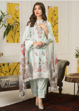 Mahnoor by Al Zohaib Embroidered Lawn Unstitched 3 Piece Suit M20AZ 10-B - Spring / Summer Collection