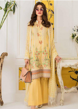 Mahnoor by Al Zohaib Embroidered Lawn Unstitched 3 Piece Suit M20AZ 6-A - Spring / Summer Collection