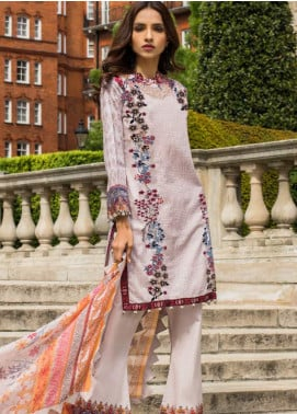 Mahnoor by Al Zohaib Embroidered Lawn Unstitched 3 Piece Suit MHN19E 07B - Festive Collection