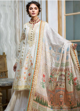 Mahpara Khan Embroidered Lawn Unstitched 3 Piece Suit MHP19L 01 - Spring / Summer Collection