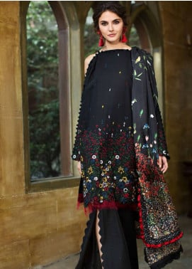 Mahpara Khan Embroidered Lawn Unstitched 3 Piece Suit MHP19L 05 - Spring / Summer Collection