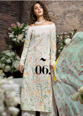 Mahpara Khan Embroidered Lawn Unstitched 3 Piece Suit MHP19L 06 - Spring / Summer Collection