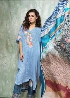 Mahpara Khan Embroidered Lawn Unstitched 3 Piece Suit MHP19L 07 - Spring / Summer Collection
