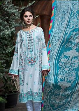 Mahpara Khan Embroidered Lawn Unstitched 3 Piece Suit MHP19L 09 - Spring / Summer Collection
