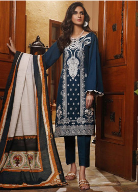 Mahrukh by ZS Embroidered Khaddar Unstitched 3 Piece Suit MHK19K 01 - Winter Collection