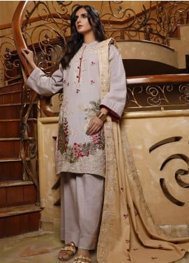 Mahrukh by ZS Embroidered Khaddar Unstitched 3 Piece Suit MHK19K 02 - Winter Collection