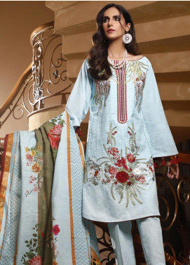 Mahrukh by ZS Embroidered Khaddar Unstitched 3 Piece Suit MHK19K 03 - Winter Collection