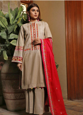 Mahrukh by ZS Embroidered Khaddar Unstitched 3 Piece Suit MHK19K 04 - Winter Collection
