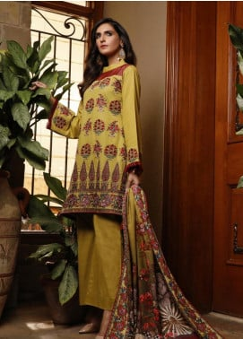 Mahrukh by ZS Embroidered Khaddar Unstitched 3 Piece Suit MHK19K 05 - Winter Collection