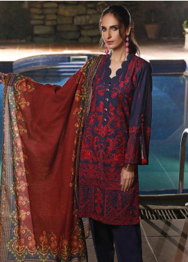Mahrukh by ZS Embroidered Khaddar Unstitched 3 Piece Suit MHK19K 06 - Winter Collection