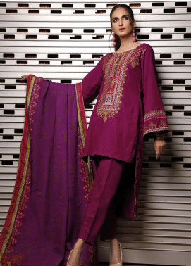 Mahrukh by ZS Embroidered Khaddar Unstitched 3 Piece Suit MHK19K 07 - Winter Collection