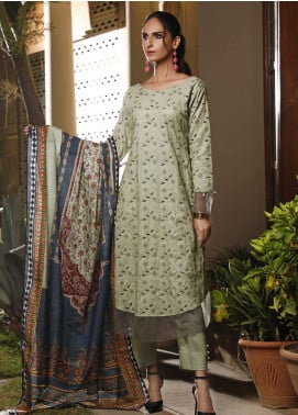 Mahrukh by ZS Embroidered Khaddar Unstitched 3 Piece Suit MHK19K 08 - Winter Collection
