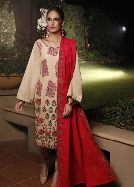 Mahrukh by ZS Embroidered Khaddar Unstitched 3 Piece Suit MHK19K 09 - Winter Collection