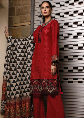 Mahrukh by ZS Embroidered Khaddar Unstitched 3 Piece Suit MHK19K 10 - Winter Collection