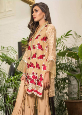 Mahrukh By ZS Embroidered Organza Unstitched 3 Piece Suit MHK18VC 02 - Luxury Collection