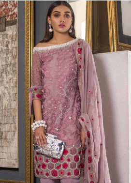 Mahrukh By ZS Embroidered Chiffon Unstitched 3 Piece Suit MHK18VC 08 - Luxury Collection