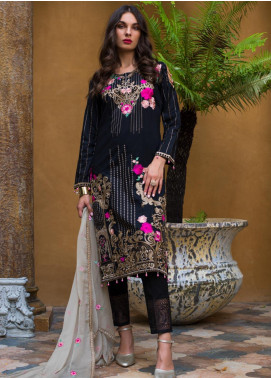 Maira Ahsan Embroidered Lawn Unstitched 3 Piece Suit MA19-DE2 01 - Luxury Collection
