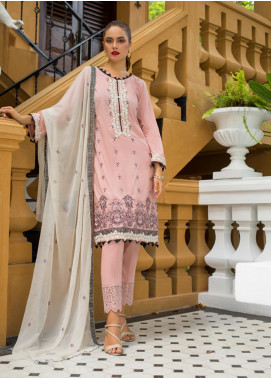 Maira Ahsan Embroidered Lawn Unstitched 3 Piece Suit MA19-DE2 03 - Luxury Collection