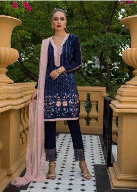 Maira Ahsan Embroidered Lawn Unstitched 3 Piece Suit MA19-DE2 04 - Luxury Collection